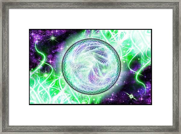 Cosmic Lifestream Framed Print