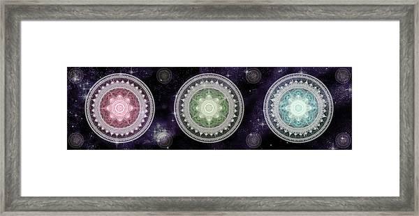 Cosmic Medallians Rgb 2 Framed Print