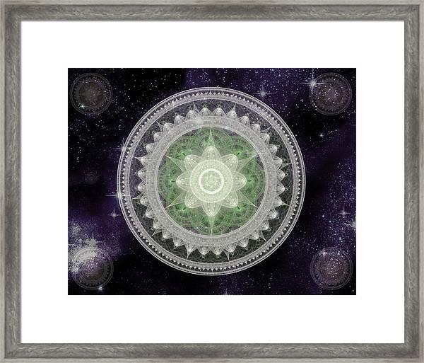 Cosmic Medallions Earth Framed Print