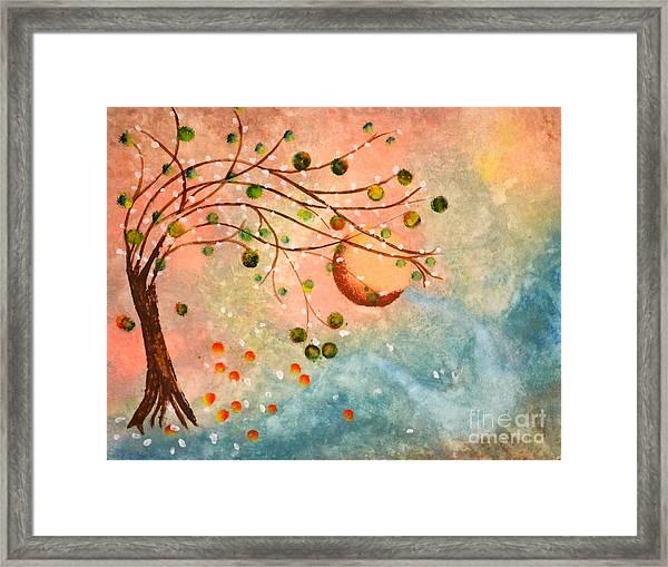 Cosmic Orb Tree Framed Print