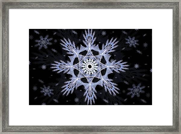Cosmic Snowflakes Framed Print