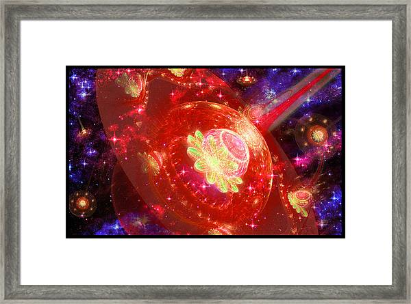 Cosmic Space Station Framed Print