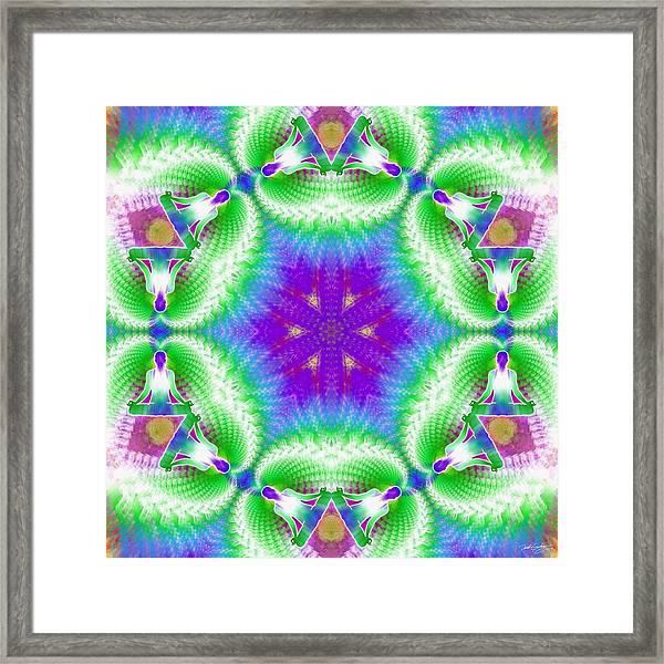 Cosmic Spiral Kaleidoscope 10 Framed Print