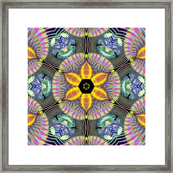 Cosmic Spiral Kaleidoscope 13 Framed Print
