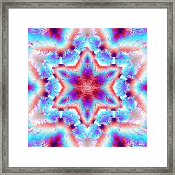 Cosmic Spiral Kaleidoscope 45 Framed Print