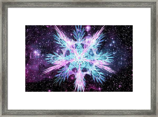 Cosmic Starflower Framed Print