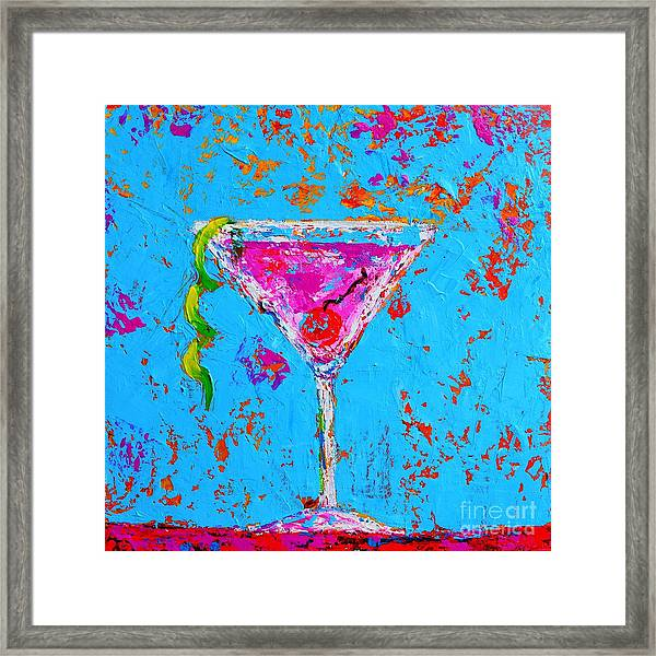 Cosmopolitan Martini Cherry Flavored - Modern Art Framed Print