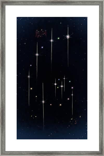 Cosmos - Art Of The Science Tarot Framed Print