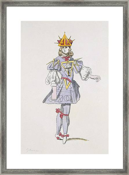 Costume Design For Geometry In A 17th Framed Print