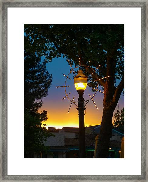 Cotati Lights Framed Print