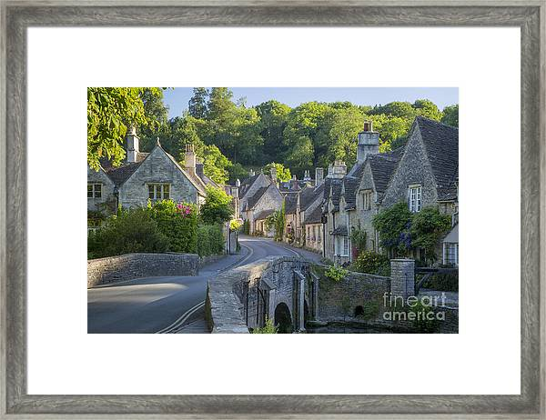 Framed Print featuring the photograph Cotswold Village by Brian Jannsen