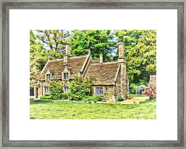 cottage at Bowood-01 Framed Print