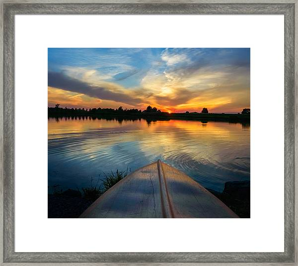 Cottage Country's Silhouette Framed Print