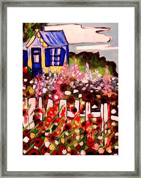 Cottage Garden Revised Framed Print