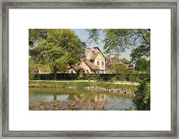 Cottage In The Hameau De La Reine Framed Print