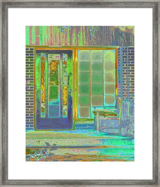 Cottage Porch Framed Print