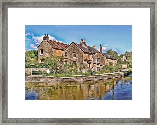 Cottages At Avoncliff Framed Print