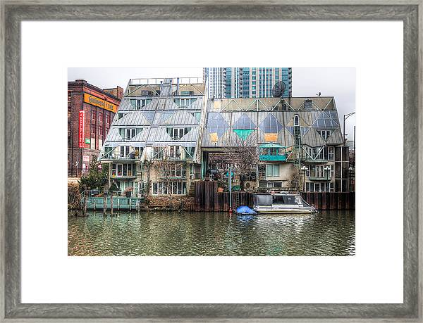 Cottages On The River Framed Print by Michael  Bennett