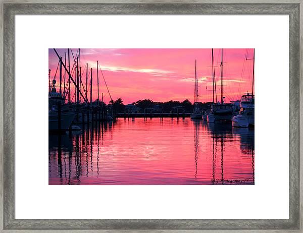 Cotton Candy Sunset Framed Print