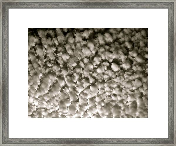 Cotton Sky Framed Print