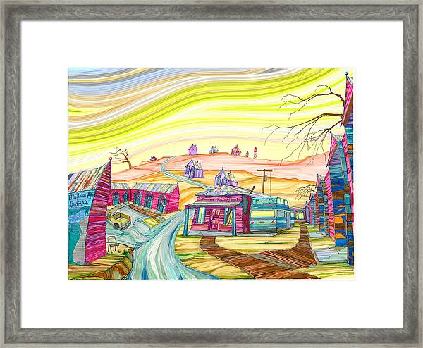 Cottonwood Holiday Court Framed Print