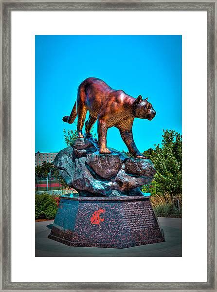 Cougar Pride Sculpture - Washington State University Framed Print
