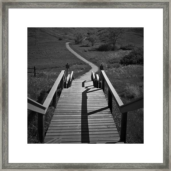 Coulee Stairs Framed Print