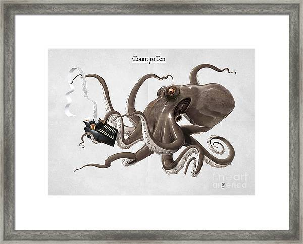 Count To Ten Framed Print