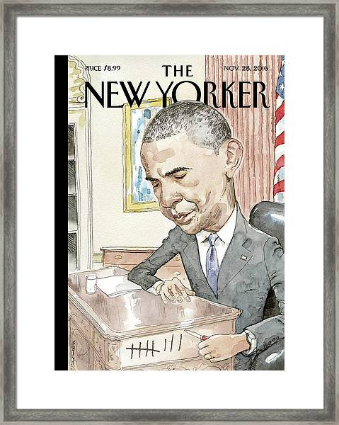 Counting Framed Print by Barry Blitt