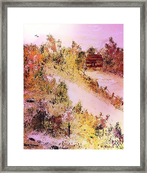Country Cabin Framed Print