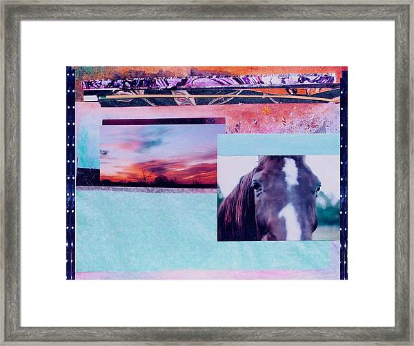 Country Collage 4 Framed Print