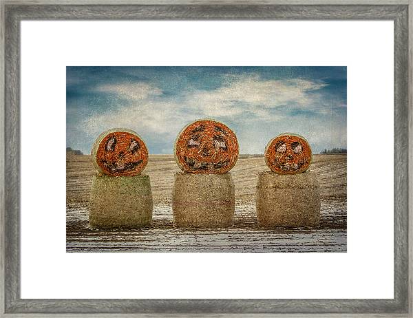 Framed Print featuring the photograph Country Halloween by Patti Deters