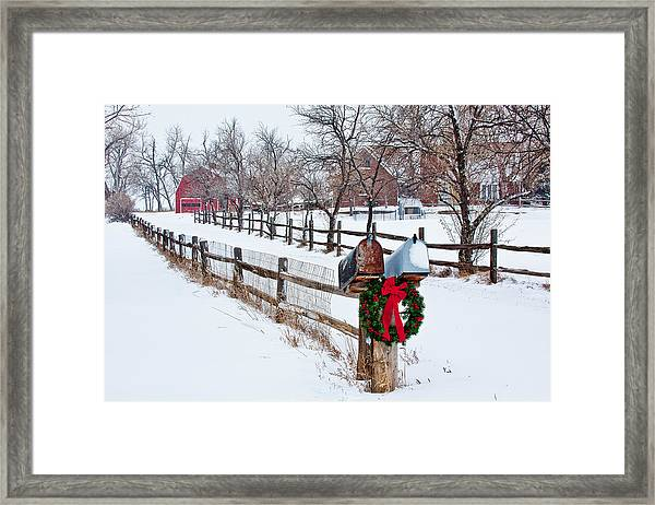 Country Holiday Cheer Framed Print