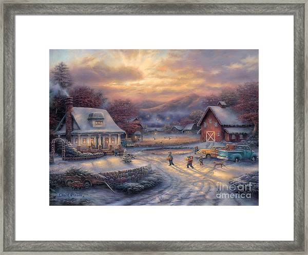 Country Holidays Framed Print