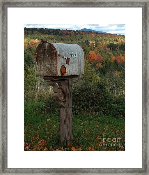 Country Mail Box Framed Print