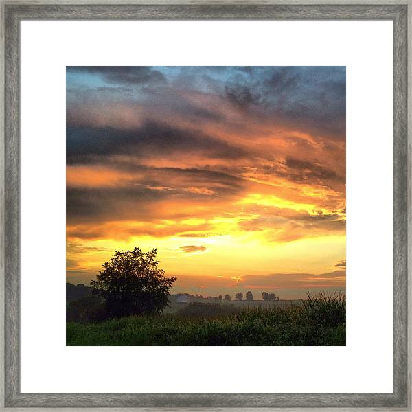 Country Scene From Hilltop To Hilltop Framed Print