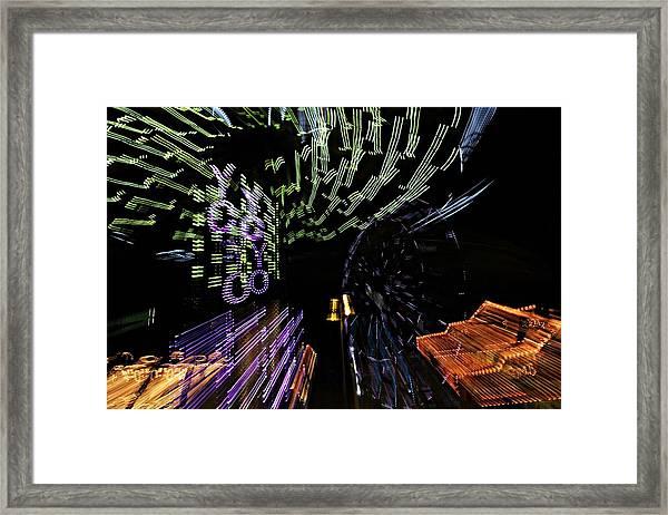 County Fair Abstract Framed Print