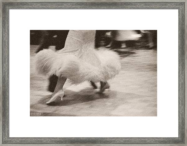 Couple Dancing Puffy Skirt Framed Print by Beverly Brown