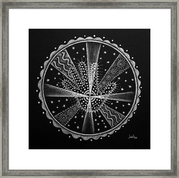 Courage And Strength Framed Print