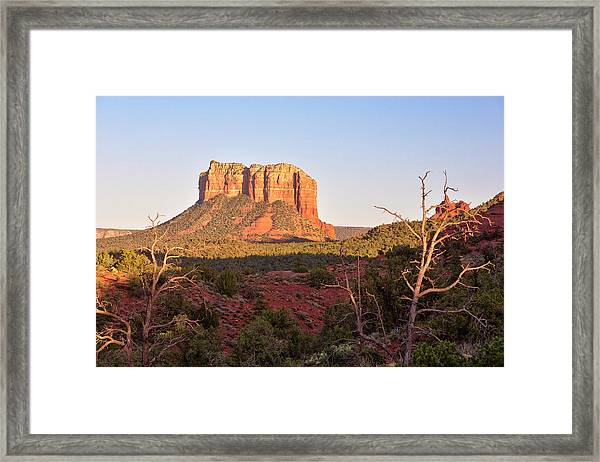 Courthouse Butte At Sunset, Sedona Framed Print