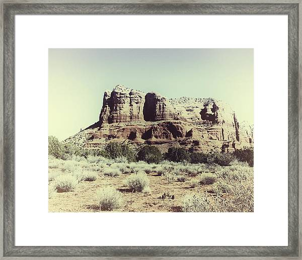 Framed Print featuring the photograph Courthouse Butte I by Gigi Ebert