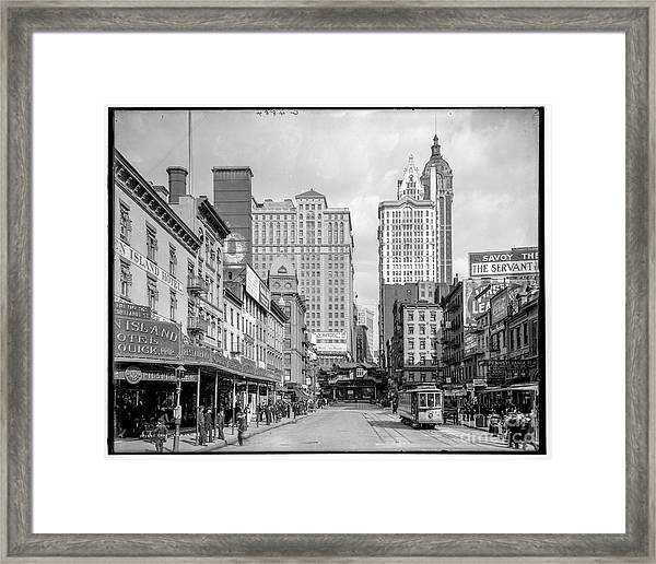 Courtland Street Framed Print