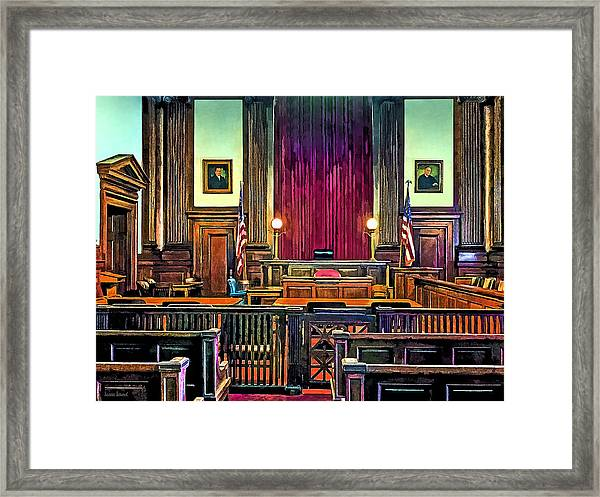 Courtroom Framed Print