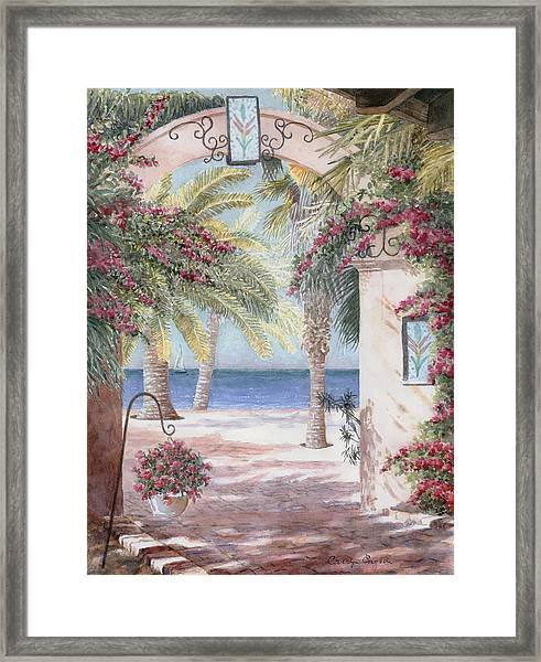 Courtyard View Framed Print