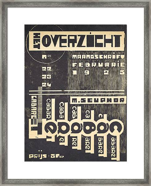 Cover For The Magazine Het Overzicht Framed Print