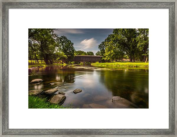 Covered Bridge Long Exposure Framed Print