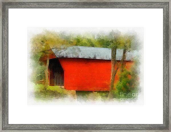 Covered Bridge - Sinking Creek Framed Print