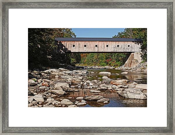 Covered Bridge Vermont 7 Framed Print