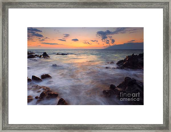 Covered By The Sea Framed Print