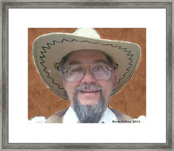 Cowboy Bruce Framed Print